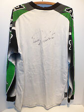 Autographed Signed Ricky Carmichael #4 Fox Racing Long Sleeve Motocross T-Shirt