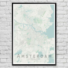 AMSTERDAM Map Print, Netherlands Wall Art Poster City Map Wall Decor A3 A2 A1
