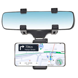 Universal New Car Rear-view Mirror Mount Stand Holder Cradle For Cell Phone