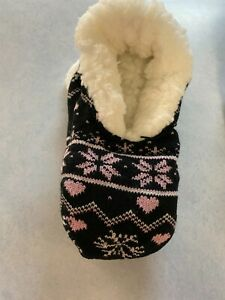 Dolgen Women's Faux Fur Lined Bootie Slippers-5.5-7.5 or 8-10.5 (BX8)