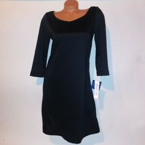 ANNALEE + HOPE Dress Womens Small Solid Black 3/4 Sleeve