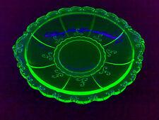 Kleiner Teller Small Plate Schale URANGLAS URAN GLAS VASELINE GLASS Dia: 15,3 cm