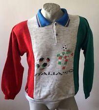 MAGLIA ITALIA 1990 ORIGINAL CALCIO FELPA SWEATSHIRT VINTAGE