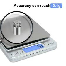 Digital Electronic Kitchen Scale Pocket Food Mini Weight LCD 0.1g-3000g Weighing