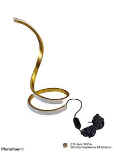 NUUR Modern Spiral LED Smart Table Lamp (Gold)