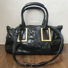 Pre Owned Authentic CHLOE Ethel Black Leather Handbag / Shoulder Bag / 2 Way Bag
