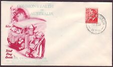 1951 3d RED KGVI ON GENERIC WIDE WORLD FIRST DAY COVER (UNADDRESSED) (RU1983B)