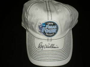 ROY WILLIAMS Signed 2009 National Champions Basketball Hat Cap UNC Tar Heels