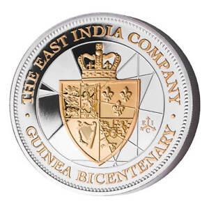 2016 East India Company St Helena 50 Pence 5 oz Silver Guinea Proof Coin