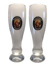 """Franziskaner - 2 German Beer Glasses 0.3 Litre - """"Weissbier"""" - NEW"""
