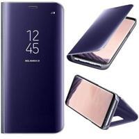 Housse Etui,coque à clapet miroir translucide  violet pour Samsung Galaxy S8