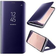 Housse Etui,coque à clapet miroir translucide  violet pour Samsung Galaxy S7Edge