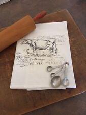 Flour sack cotton dishtowel farmhouse country funny Kitchen cow
