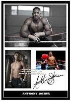 277.  ANTHONY JOSHUA BOXING SIGNED  A4 PHOTOGRAPH GREAT GIFT BOXING