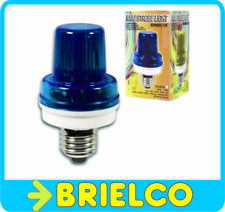 FLASH ESTROBOSCOPICO LAMPARA BOMBILLA DESTELLOS COLOR AZUL 220VAC E27 BD2150