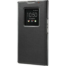 Genuine BlackBerry Priv Leather Smart Flip Case Black ACC-62173-001