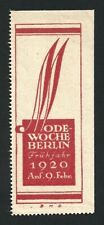 Germany 1920 ODE Week Berlin Spring Poster Stamp