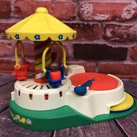 Vintage Fisher Price Little People #170 Change-A-Tune Carousel Record Player '81