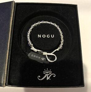 NWT NOGU Supreme Kismet White Adjustable bracelet Silver Stainless Steel N I B