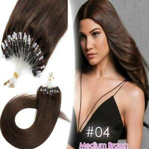 LINK Micro Ring Bead LOOP 100% Real Remy Human Hair Extensions Multi-Color 100g