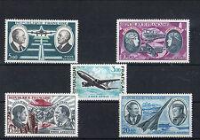 France 5 timbres non oblitérés gomme**  9  Poste aérienne