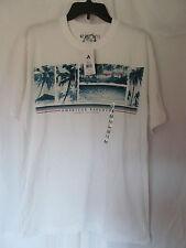 NWT Men's No Bad Days White Palm Tree,Beach Theme Graphic T-Shirt Size Medium