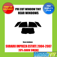 SUBARU IMPREZA ESTATE 2004-2007 20% DARK REAR PRE CUT WINDOW TINT