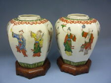 Late Qing Dynasty Color  Figure pots