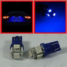 2x Blue 5-SMD License Plate Number Frame Tag 12V T10 Wedge LED light Bulbs 194