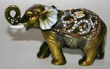 ELEPHANT TRINKET BOX ANIMAL JULIANA ORNAMENT, EXCEPTIONAL CRYSTAL DECORATION