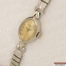 1962 Ladies Longines Marquise Dial White 10K Gold Filled 20A Watch Ready to Wear