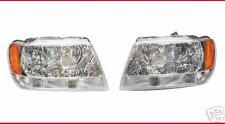 JEEP GRAND CHEROKEE LH Driver & RH Passenger Side Headlight Headlamp PAIR L & R