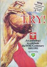 """TRY"" - An Anthology celebrate the WRU Cent 1881-1981 Jack Matthews Collection"