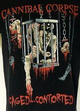 Cannibal Corpse Caged...Contorted 1988 Death Metal 2013 Black T-Shirt Small S