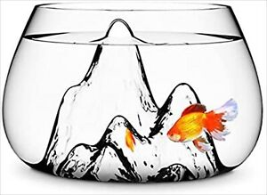 New Aruliden Fishscape Fashionable Clear Transparent Fishbowl Tropical Interior