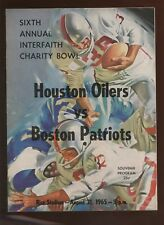 August 21 1965 AFL Program Boston Patriots at Houston Oilers EXMT
