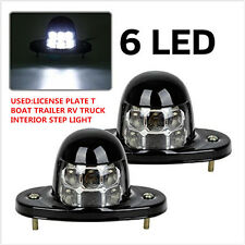 2x Universal LED White License Plate Light 12V for Car Van Trailer Trucks 6-SMD