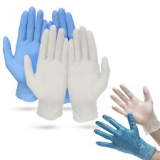 Powdered and Powder Free Disposable Latex Gloves, Pack of 100