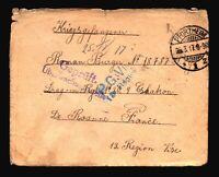 Germany 1917 POW Cover / PFORZHEIM / Torn Back - Z14321