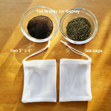 """2 COFFEE OR TEA  FILTER BAGS SIZE -3"""" X 4"""" QUICK DRAINAGE  WASH REUSE  £2.50 F/P"""