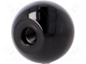 2 x M10 x 40mm Diameter Thread Black Round Ball Lever Knob