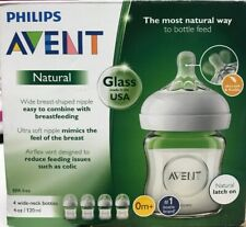 OPEN BOX HAS WEAR Philips Avent Natural Glass Bottle Baby Gift Set SCD201//01.