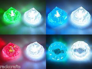 Diamond Diamante Gemstone LED Glow Fairy Lights White / Multicolor Wedding Decor