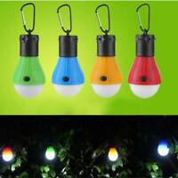 LED Portable Tent Hanging Lamp 3 Modes Outdoor Emergency Carabiner Bulb Light