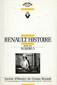 revue renault histoire - juin 1993, n°5