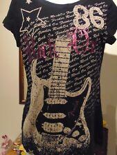 Fender by Davinci Women's Embellished Rock On T-Shirt XL