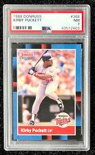 1988 Donruss Kirby Puckett #368 Baseball Card Minnesota Twins PSA 7 NM