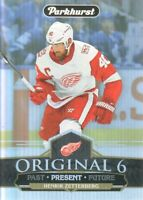 2018-19 Parkhurst Original 6 #O6-11 Henrik Zetterberg Detroit Red Wings