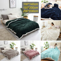2019 Warm Throw Blanket Flannel Berber Fleece Robe Cloak Reversible Fluffy Coz