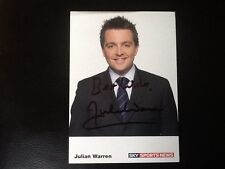 SKY SPORTS SIGNED CARD JULIAN WARREN